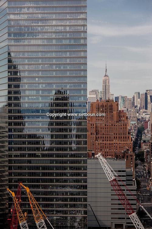 New York . world trade center cityscape ,  New York - United states / le quartier du world trade center e, les gratte ciel de downtown  New York - Etats unis