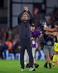 LONDON, ENGLAND - Monday, August 20, 2018: Liverpool's manager Jürgen Klopp applauds the supporters after the FA Premier League match between Crystal Palace and Liverpool FC at Selhurst Park. Liverpool won 2-0. (Pic by David Rawcliffe/Propaganda)