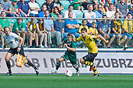 (R) Sokratis Papastathopoulos of Dorussia Dortmund controls the ball during international friendly soccer match between WKS Slask Wroclaw and BVB Borussia Dortmund on Municipal Stadium in Wroclaw, Poland.<br /> <br /> Poland, Wroclaw, August 6, 2014<br /> <br /> Picture also available in RAW (NEF) or TIFF format on special request.<br /> <br /> For editorial use only. Any commercial or promotional use requires permission.<br /> <br /> Mandatory credit:<br /> Photo by © Adam Nurkiewicz / Mediasport