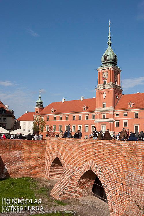 Remparts de la vielle ville de Varsovie laissant voir le chateau royal