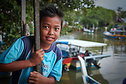 Malaysian boy in a fishing village - island of Langkawi, Malaysia