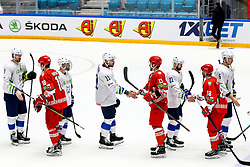 Anze Kopitar of Slovenia and Nikita Ustinenko of Belarus during ice hockey match between Belarus and Slovenia at IIHF World Championship DIV. I Group A Kazakhstan 2019, on May 2, 2019 in Barys Arena, Nur-Sultan, Kazakhstan. Photo by Matic Klansek Velej / Sportida