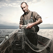 Reportage, Fischer, Fischerei Kapfhammer, Berufsfischer, Nonnenhorn, Deutschland