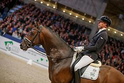 Minderhoud Hans Peter, NED, Incognito<br /> KWPN Stallionshow - 's Hertogenbosch 2018<br /> © Hippo Foto - Dirk Caremans<br /> 02/02/2018