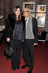 VIDAL & RONNIE SASSOON at a party hosted by Roberto Cavalli to celebrate his new Boutique's opening at 22 Sloane Street, London followed by a party at Battersea Power Station, London SW8 on 17th September 2011.