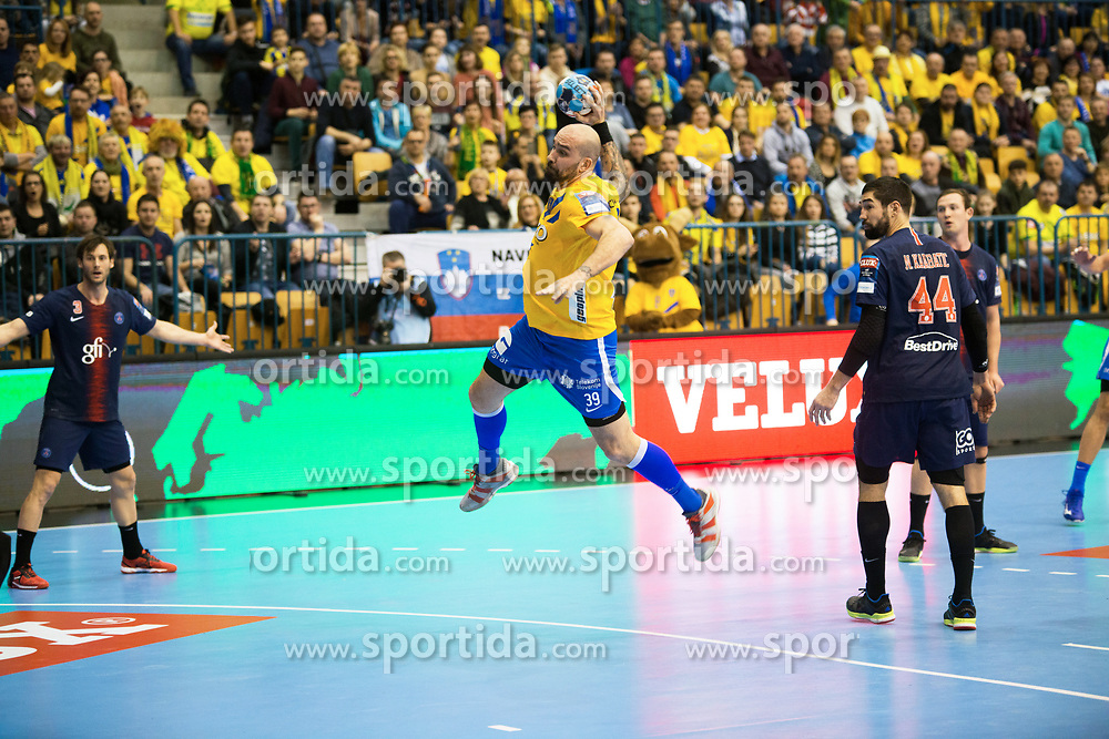 Jan Jurecic during handball match between RK Celje Pivovarna Lasko (SLO) and Paris Saint-Germain HB (FRA) in VELUX EHF Champions League 2018/19, on February 24, 2019 in Arena Zlatorog, Celje, Slovenia. Photo by Peter Podobnik / Sportida