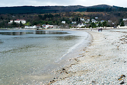 The shingle beach at Dunoon West Bay looking out over the Firth of Clyde<br /> <br /> 04 April  2015<br /> Image © Paul David Drabble <br /> www.pauldaviddrabble.co.uk