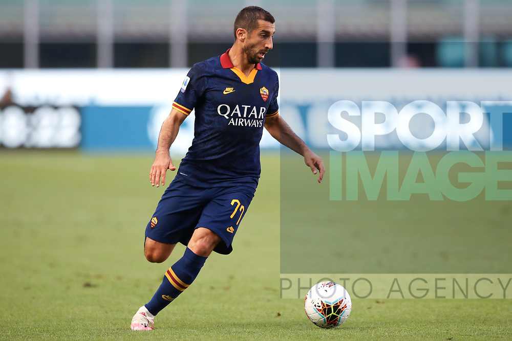 AS Roma's Armenian midfielder Henrikh Mkhitaryan during the Serie A match at Giuseppe Meazza, Milan. Picture date: 28th June 2020. Picture credit should read: Jonathan Moscrop/Sportimage