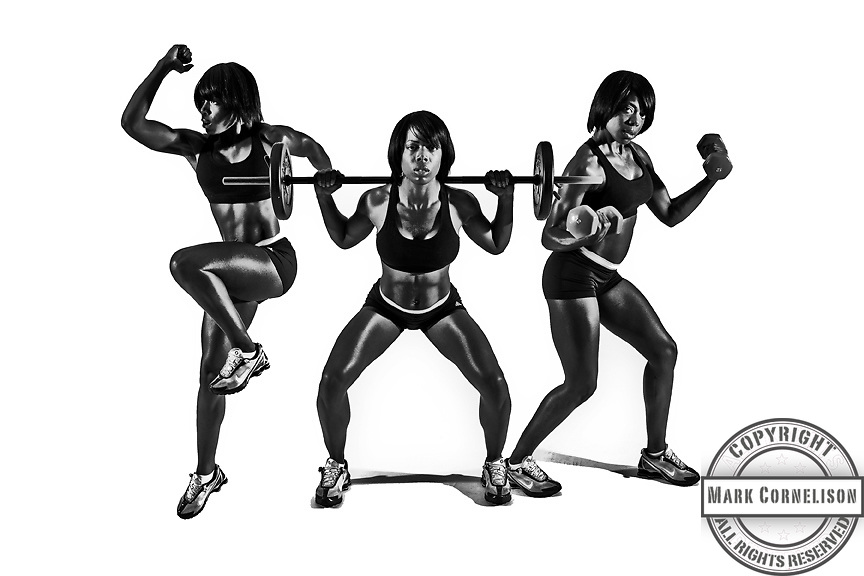 Illustration photographed for Urban Active Fitness Centers. Photo and layout by Mark Cornelison