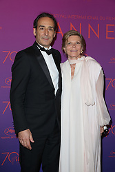 Alexandre Desplat and Dominique Lemonnier attend the Opening Gala Dinner during the 70th annual Cannes Film Festival held at Martinez Hotel in Cannes, France on May 17, 2017 as part of the 70th Cannes Film Festival. Photo by Jerome Domine/ABACAPRESS.COM