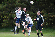 Occidental (white) v Fife Thistle (black) in the  Dundee Saturday Morning Football League Division 2 at University Grounds, Riverside, Dundee<br /> <br /> <br />  - &copy; David Young - www.davidyoungphoto.co.uk - email: davidyoungphoto@gmail.com