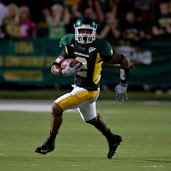 10 September 2009: Southeastern Louisiana Lions cornerback Curtis Strong (2) returns an interception during a game between Southeastern Louisiana University Lions and Union College at Strawberry Stadium in Hammond, Louisiana.