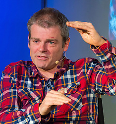 Mark Haddon interviewed at Apple Store.  Acclaimed British novelist, who won the Whitbread Book of the Year Award and the Commonwealth Writers' Prize Overall Best First Book for his novel The Curious Incident of the Dog in the Night-time, discusses his book The Red House. The family drama explores the relationship between two estranged siblings. Apple Store, Regent Street, London, United Kingdom, April 30 2013. Photo by: Nils Jorgensen / i-Images