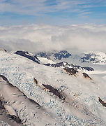 Aerial view of the north flank of Iliamna Volcano. Lake Clark National Park, Alaska.