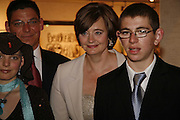 Katy Aldridge, RICHARD ALDRIDGE, CHERIE BOOTH AND Joshua Aldridge. Gala champagne reception and dinner in aid of CLIC Sargent.  Grosvenor House Art and Antiques Fair.  Grosvenor House. Park Lane. London. 15  June 2006. ONE TIME USE ONLY - DO NOT ARCHIVE  © Copyright Photograph by Dafydd Jones 66 Stockwell Park Rd. London SW9 0DA Tel 020 7733 0108 www.dafjones.com