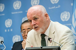 June 28, 2017 - New York, NY, United States - In conjunction with a high-level event held at United Nations Headquarters dedicated to the fourth Sustainable Development Goal regarding education, 71st UN General Assembly President Peter Thomson spoke at a press briefing on the event. (Credit Image: © Albin Lohr-Jones/Pacific Press via ZUMA Wire)