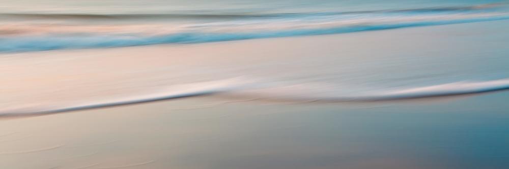 Surf, sand, and early morning light blended palette.