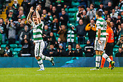 Celtic FC Forward Leigh Griffiths thanking the fans  during the Ladbrokes Scottish Premiership match between Celtic and Dundee United at Celtic Park, Glasgow, Scotland on 25 October 2015. Photo by Craig McAllister.