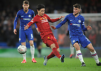 Football - 2019 / 2020 Emirates FA Cup - Fifth Round: Chelsea vs. Liverpool<br /> <br /> Takumi Minamino of Liverpool and Mason Mount, at Stamford Bridge.<br /> <br /> COLORSPORT/ANDREW COWIE
