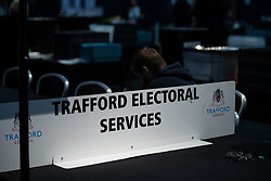 © Licensed to London News Pictures . 03/05/2018. Trafford, UK. The hall ahead of the Trafford Council count at The Point at Lancashire County Cricket Club . The Labour Party are looking to overturn the Conservative Party's majority on the council . Local council elections are taking place across the country . Photo credit: Joel Goodman/LNP