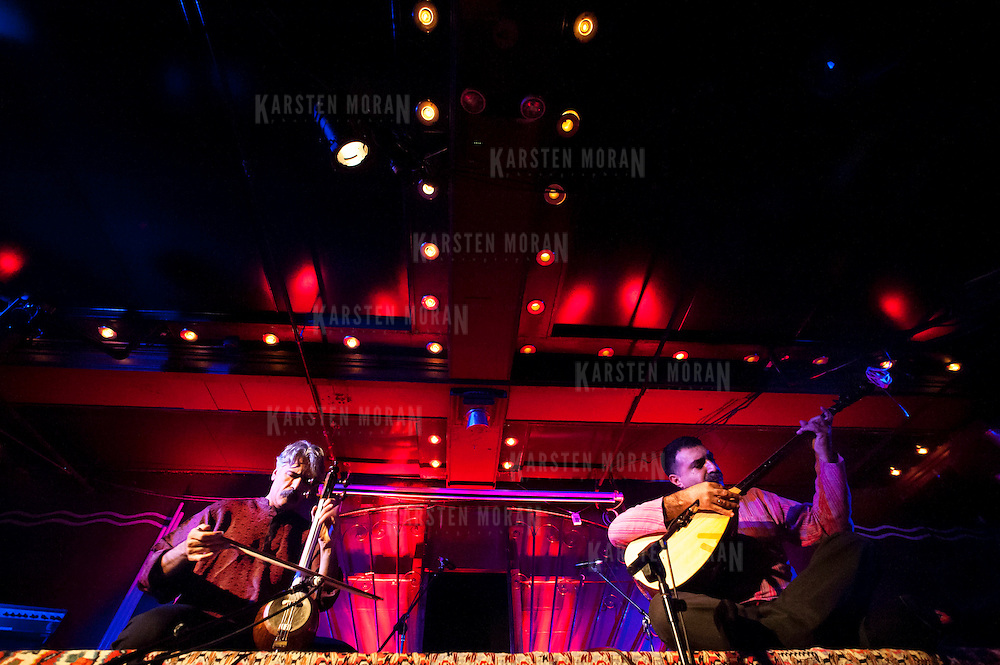 January 14, 2013 - New York, NY : Kayhan Kalhor, left, and Erdal Erzincan perform during globalFEST in The Marlin Room at Webster Hall on Sunday night. CREDIT: Karsten Moran for The New York Times