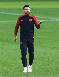 Sergio Aguero of Manchester City gestures - Mandatory by-line: Matt McNulty/JMP - 31/10/2016 - FOOTBALL - City Football Academy - Manchester, England - Manchester City v Barcelona - UEFA Champions League - Group C