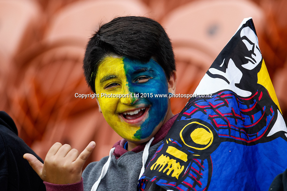 Rugby fan ahead of the Super 15 Rugby Match - Chiefs v Highlanders, 6 March 2015 at Waikato Stadium, Hamilton, New Zealand on Friday 6 March 2015.  Photo:  Bruce Lim / www.photosport.co.nz