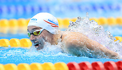 Alys Thomas competes in the Women's 200m Open 200m Butterfly heats during day three of the 2017 British Swimming Championships at Ponds Forge, Sheffield.