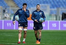 November 23, 2018 - Rome, Italy - Rugby Italy captains run - Cattolica Test Match.Alessandro Zanni and Luca Sperandio  at Olimpico Stadium in Rome, Italy on November 23, 2018. (Credit Image: © Matteo Ciambelli/NurPhoto via ZUMA Press)