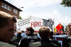 06.06.2015, Garmisch Partenkirchen, GER, G7 Gipfeltreffen auf Schloss Elmau, Circa 5000 Menschen demonstrieren in Garmisch-Patenkirchen gegen den G7-Gipfel im benachbarten Elmau, im Bild Polizisten vor der Demo // uring Protest of the G7 opponents prior to the scheduled G7 summit which will be held from 7th to 8th June 2015 in Schloss Elmau near Garmisch Partenkirchen, Germany on 2015/06/06. EXPA Pictures © 2015, PhotoCredit: EXPA/ Eibner-Pressefoto/ Gehrling<br /> <br /> *****ATTENTION - OUT of GER*****