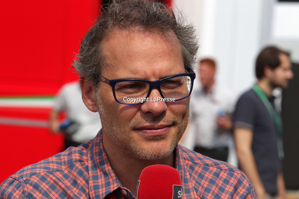 &copy; Photo4 / LaPresse<br /> 04/09/2016 Monza, Italy<br /> Sport <br /> Grand Prix Formula One Italia 2016<br /> In the pic: Jacques Villeneuve (CAN)  Sky TV