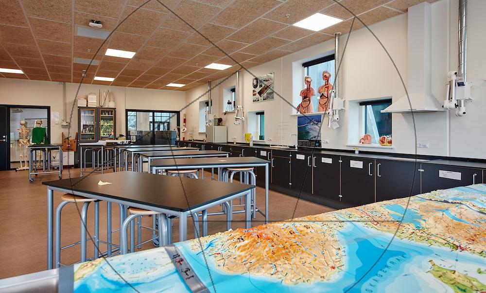 Aabybro Ny Skole, åbning af ny folkeskole, Aabybro ved Ålborg, ny skole tilpasset folkeskolereformen, Bygherre: Jammerbugt Kommune , interiør