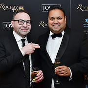 Johnathan Shalit is a British talent manager and Kevin Rochay, Chairman  attend Rochay High Society Soiree with Jovoy at Westbury Mayfair grafton suite on 21 November 2019, London, UK.