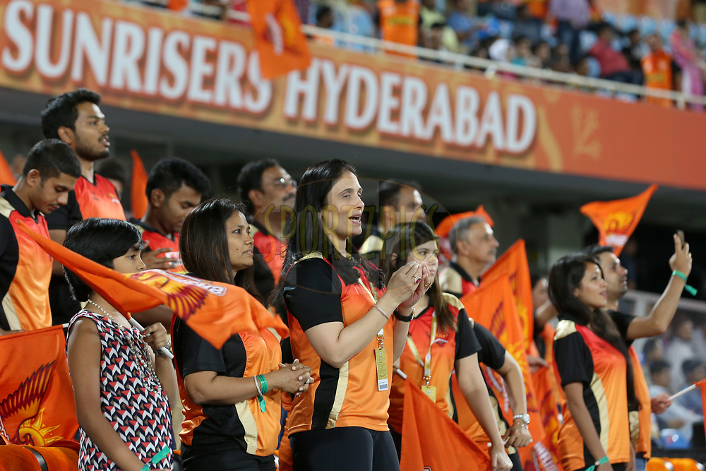 Sunrisers Hyderabad owner Kaveri Maran during match 37 of the Vivo 2017 Indian Premier League between the Sunrisers Hyderabad and the Kolkata Knight Riders  held at the Rajiv Gandhi International Cricket Stadium in Hyderabad, India on the 30th April 2017<br /> <br /> Photo by Faheem Hussain - Sportzpics - IPL