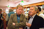 CHRISTOPHER SILVERSTER; DAVID JENKINS, Alba Arikha  book launch for 'Soon' , Daunt's Holland Park.. London. 17 September 2013.