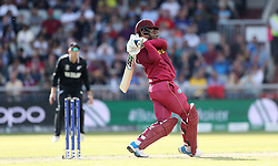 West Indies Shimron Hetmyer during the ICC Cricket World Cup group stage match at Old Trafford, Manchester.