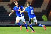 GOAL Steven Davies celebrates making it 4-0 to Rochdale during the EFL Sky Bet League 1 match between Rochdale and Walsall at Spotland, Rochdale, England on 22 November 2016. Photo by Daniel Youngs.