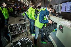 Rok Ticar during departure of Slovenia Olympic Team for PyeongChang 2018, on February 6, 2018 in Airport Joze Pucnik, Brnik, Slovenia. Photo by Morgan Kristan / Sportida