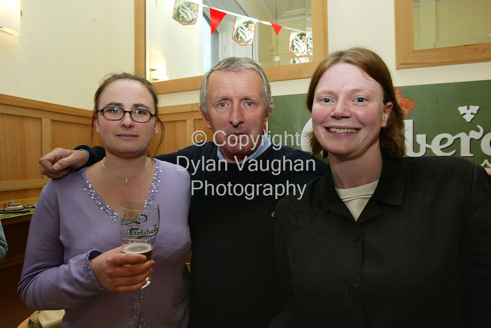 24/5/2002.Pictured at a reception at Waterford Brewery ahead of this weekends Carlsberg Waterford Maratime Festival  was from left Carol Duffy, Michael Quinn and Aileen Mulhall..Picture Dylan Vaughan