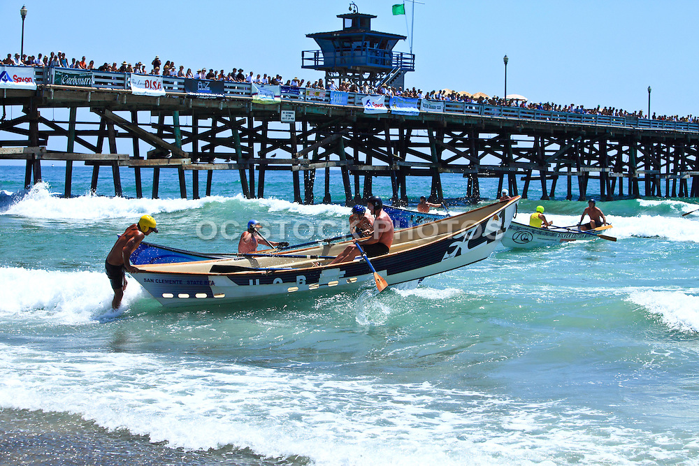 Dory Boat Races at San Clemente Pier