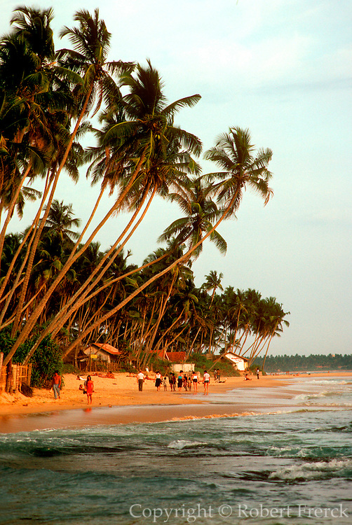 SRI LANKA, SEA COASTS Indian Ocean beaches on the island's  southern coast at Hikkaduwa