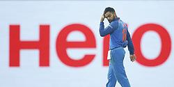 August 31, 2017 - Colombo, Sri Lanka - Indian cricket captain walks back to the pavilion after defeating Sri Lanka during the 4th One Day International cricket match between Sri Lanka and India at the R Premadasa international cricket stadium at Colombo, Sri Lanka on Thursday 31 August 2017. (Credit Image: © Tharaka Basnayaka/NurPhoto via ZUMA Press)