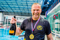 Ales Komelj, head coach of AVK Triglav Kranj after the match between AVK Triglav Kranj and VKL Ljubljana Slovan in 4th Round of Final of Slovenian Water polo National Championship, on June 20, 2018 in Pokriti olimpijski bazen Kranj, Kranj, Slovenia. Photo by Ziga Zupan / Sportida