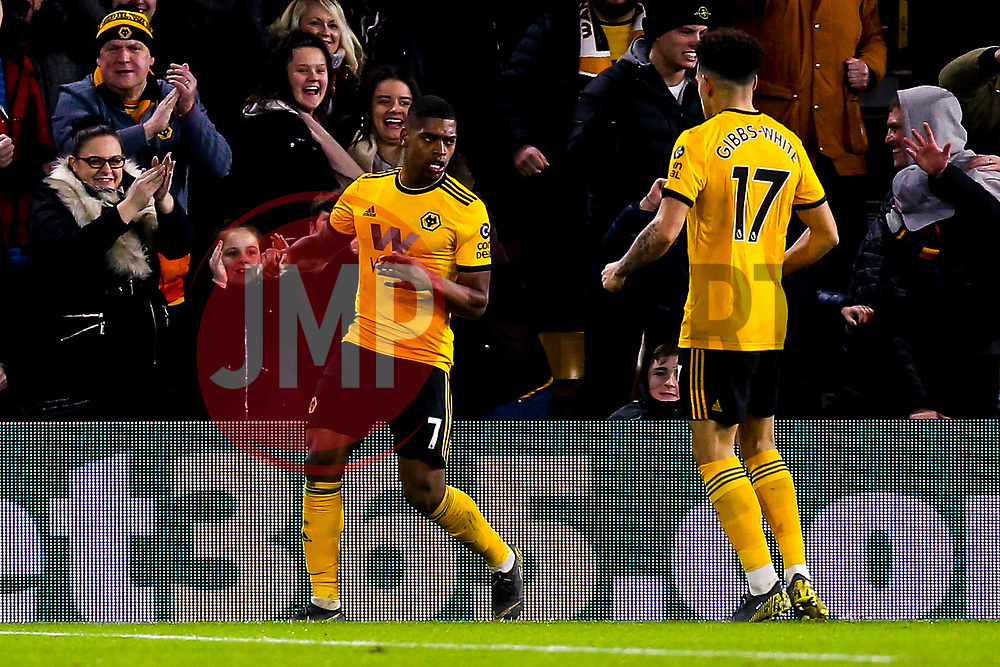 Ivan Cavaleiro of Wolverhampton Wanderers celebrates scoring a goal to make it 3-2 - Mandatory by-line: Robbie Stephenson/JMP - 05/02/2019 - FOOTBALL - Molineux - Wolverhampton, England - Wolverhampton Wanderers v Shrewsbury Town - Emirates FA Cup fourth round replay
