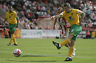 London - Saturday August 15th, 2009: Wesley Hoolahan of Norwich City in action against /e of Exeter City during the Coca Cola League One match at St James Park, Exeter. (Pic by Mark Chapman/Focus Images)