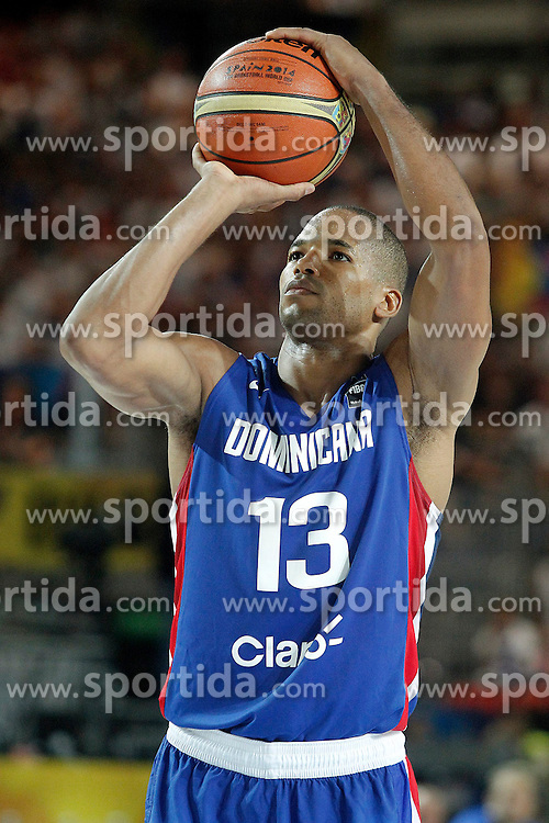 02.09.2014, City Arena, Bilbao, ESP, FIBA WM, Finnland vs Dominikanische Republik, im Bild Dominican Republic's Eulis Baez // during FIBA Basketball World Cup Spain 2014 match between Finland and Dominican Republic at the City Arena in Bilbao, Spain on 2014/09/02. EXPA Pictures &copy; 2014, PhotoCredit: EXPA/ Alterphotos/ Acero<br /> <br /> *****ATTENTION - OUT of ESP, SUI*****