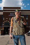 Assignment by Oklahoma Living Magazine to photography Keith Shadden, the Emergency Management Director for Beaver County in Beaver, OK