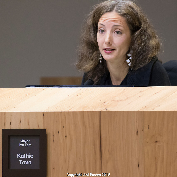Austin Mayor Pro Tem Kathie Tovo at City Council Meeting
