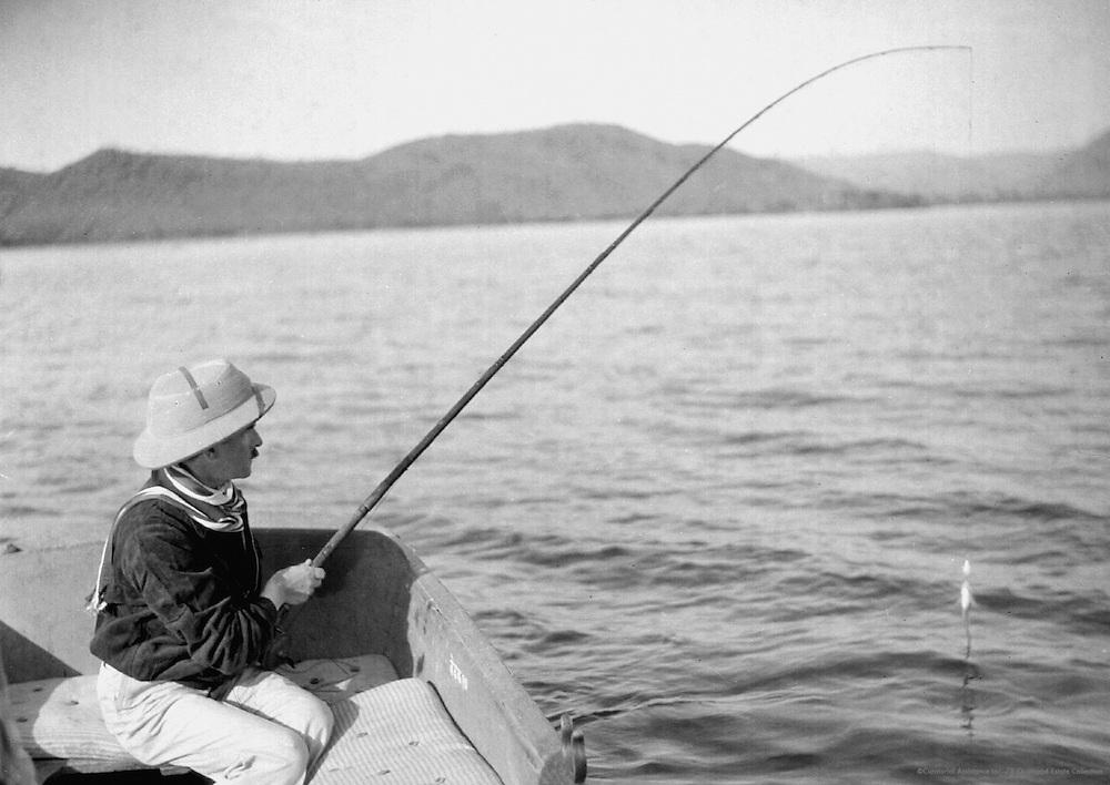 E.O. Hoppe Fishing, Udaipur, India, 1929