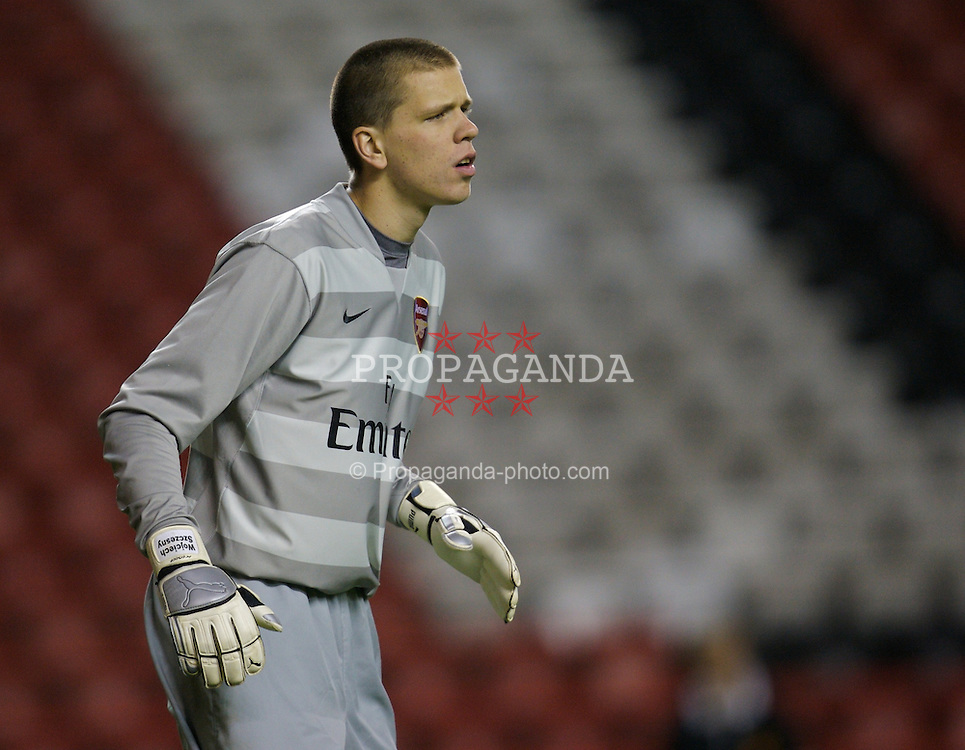 LIVERPOOL, ENGLAND - Tuesday, January 29, 2008: Arsenal's goalkeeper Wojciech Szczesny in action against Liverpool during the FA Youth Cup 4th Round match at Anfield. (Photo by David Rawcliffe/Propaganda)